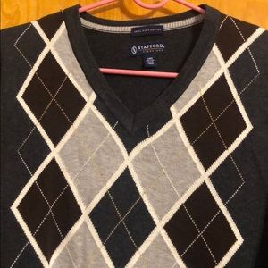 Stafford Signature Argyle Sweater Size Large
